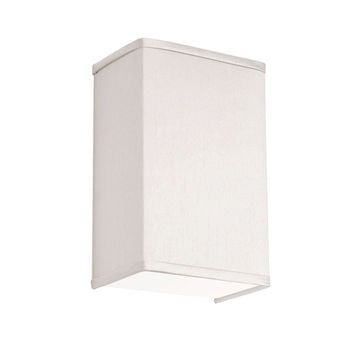 Dainolite Decorative 1 Light Wall Scone with Silk Glow Pearl Shade and Satin Chrome Finish