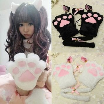 CUTE COSPLAY CAT EARS + PAWS