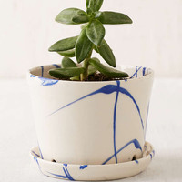 BTW Ceramics Mini Blue Planter - Urban Outfitters