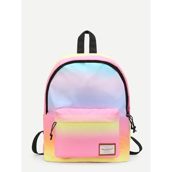 Multicolor Functional Pastel Backpack