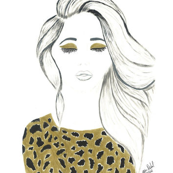 Cheetah Girl Fashion Illustration