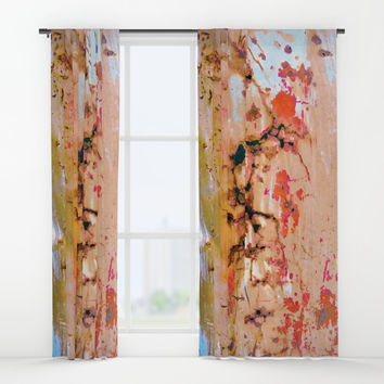 Rusted Through Window Curtains by Heidi Haakenson