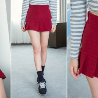 Preppy Bottom Pleated Skirt from Yumart