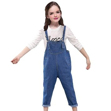 Baby Girls Jeans for Kids Denim Overalls  New Arrival Simple Casual Jeans Pants Fashion Denim Jumpsuit