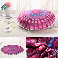 High Quality Plush Material Large Mandala Floor Pillows Round