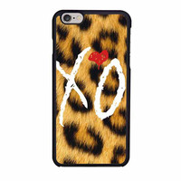 the weeknd xo leopard iphone 6 6s 4 4s 5 5s 6 plus cases