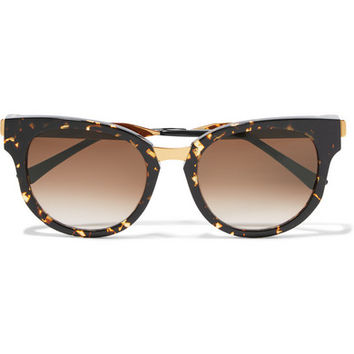 Thierry Lasry - Affinity cat-eye acetate and metal sunglasses