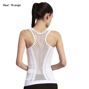 Women's Yoga Shirt Yoga Tank Tops Hollow Back Top Gym Jogging Vest Female Running Top Woman Fitness Sport Top Sexy Yoga Clothing