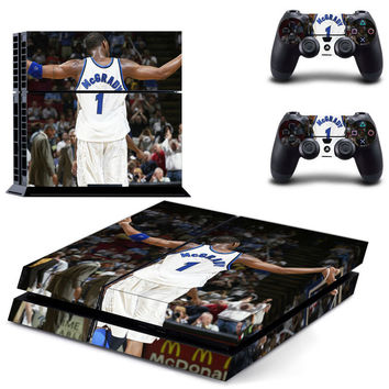NBA Tracy Mcgrady design skin for ps4 decal sticker console & controllers