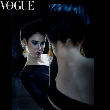 Diamonds Filigree Earrings in Vogue Italia