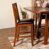 "Sunny Designs Route 66 Barstool 24"" In Brown Cherry"