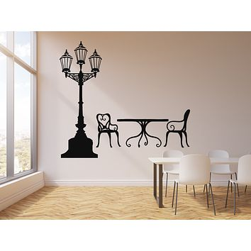 Vinyl Wall Decal Street Cafe Lamp Decoration Idea Decor Art Stickers Mural (g919)
