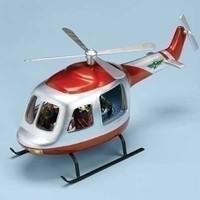 "Christmas Musical 17"" Helicopter Figure Light & Rotation. Various Christmas Songs. Materials Polyresin Dimensions 7.25"" H 17.75"" W 9.875"" D."