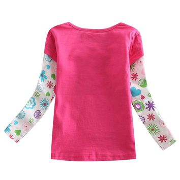 brand girl t shirt,roupas infantil meninos All for children clothing accessories,rose red purple kids wear enfant free shipping