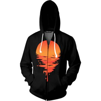 Melting Sunset Zip Up Hoodie