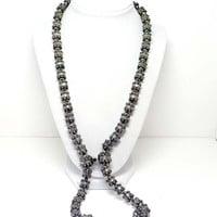 Vintage Sterling Silver Necklace w Mexican Round Floret Beads by Rafael Dominguez