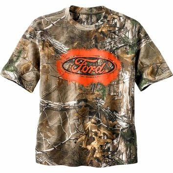 Legendary Whitetails Men's Trucked Up Ford Short Sleeve Camo T-Shirt - realtree xtra - Medium