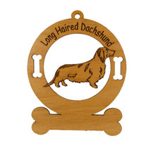 3038 Dachshund Longhair Standing Ornament Personalized with Your Dog's Name