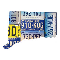 Connecticut License Plate wall decal