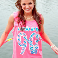 Jadelynn Brooke: Made In The 90s Tank {Neon Pink}