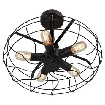 LS-L-OSCCLG AN Ozzy Ceiling Fan -LumiSource