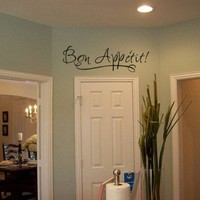 Bon Appetit Kitchen Vinyl Wall Decal