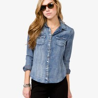Sandblasted Denim Shirt