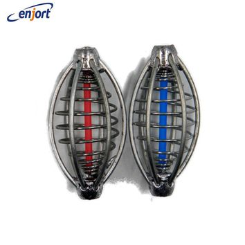 Enjort 2PCS/lot Spring+Lead Fishing Thrower Carp Fishing Catapults Fishing Bait Cage For Carp Feeder Fishing Tackle Accessories