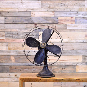 LARGE Vintage Westinghouse Electric Fan, 1923 Westinghouse Industrial Desk Fan