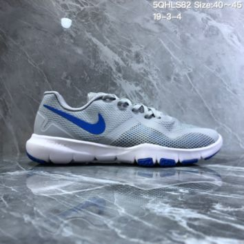 DCCK2 N819 NIKE FLEX CONTROL II Mesh breathable running shoes Gray Blue
