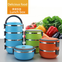 2016 Hot Korean Thermal Insulated Bento Boxes Stainless Steel Lunch Box Picnic Food Container