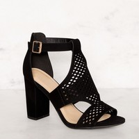 Belfor Block Heel Sandals - Black