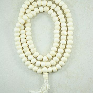 Yak Bone Mala 108 Beads Tantric Prayer Necklace
