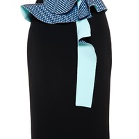 Pencil Skirt with Ruffle Detail - ROKSANDA