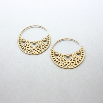 Shop Indian Earrings Hoop on Wanelo