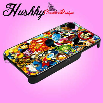 disney character cartoon - iPhone 4/4s/5 Case - Samsung Galaxy S2/S3/S4 Case - Black or White