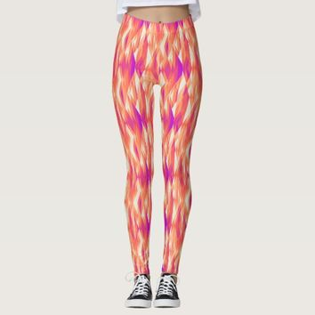 Cute artistic geometric patterns leggings