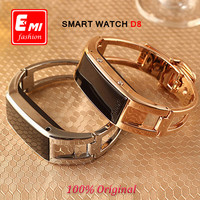 Fashion Sport Bluetooth Full steel Smart Bracelet Watch D8 Sync Call SMS smart band Anti-lost Health Wristband for ios Android