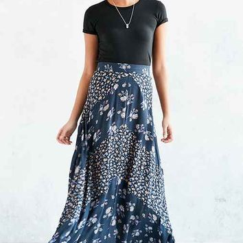 Kimchi Blue Mitered Floral Maxi Skirt