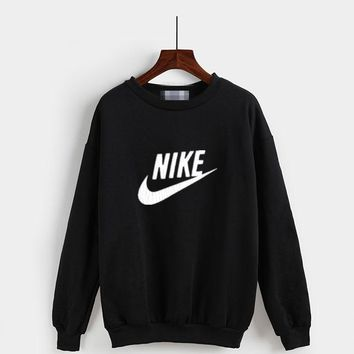 """Nike"" Fashion Casual Classic  Letter Print Couple Long Sleeve Sweater Tops"