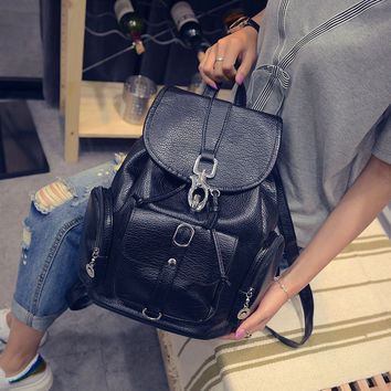 Women's New Backpack Travel Leather Handbag Rucksack Shoulder School Bag Bags