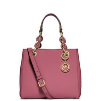 Cynthia Small Leather Satchel | Michael Kors