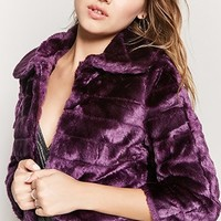Luxurious Faux Fur Cropped Jacket