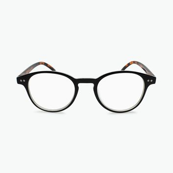 DYNAMIC ROUND FRAME READING GLASSES WITH DESIGNER TEMPLES R-653