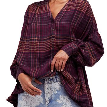 Free People | Come on Over Plaid Top | Nordstrom Rack