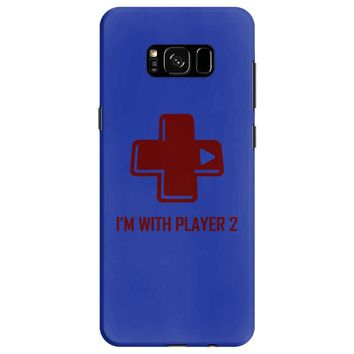 i'm with player 2 video game gamer computer geek nerd funny tee shirt Samsung Galaxy S8