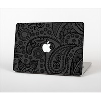 "The Dark Gray & Black Paisley Skin Set for the Apple MacBook Pro 13"" with Retina Display"