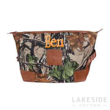 Personalized Men's Large Toiletry Bag | Lakeside Cotton
