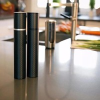 Karbon Mill Carbon Fiber and Aluminum Salt & Pepper Mill Set