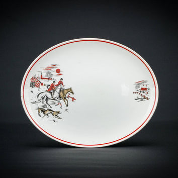 Countryside serving platter, mid 20th C